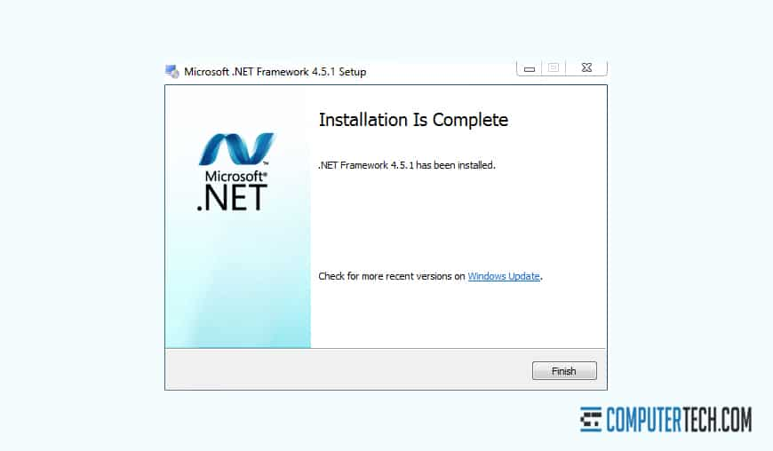 Installing NET Framework 4.5.1