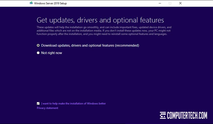Update Drivers on Windows Server